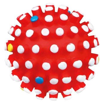 Игрушка Trixie мяч с шипами для животных 10см в ассортименте - купить, цены на СитиМаркет - фото 1