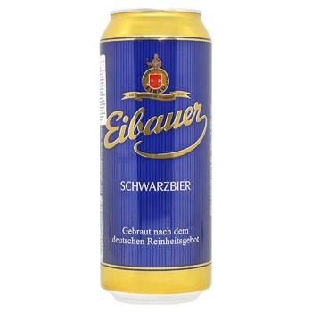 Пиво Eibauer Schwarzbier темное фильтрованное 4,5% 0,5л