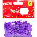 Maxi Sequins for Decorating purple 6mm 14g