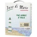 Вино Faro di Mare Bianсo белое сухое 11% 3л