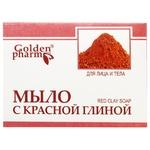 Мыло Golden Pharm с красной глиной 70г