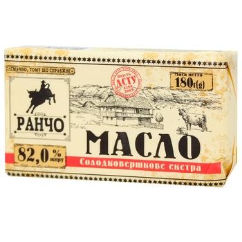 Масло Ранчо Экстра 82% 180г - купить, цены на МегаМаркет - фото 1