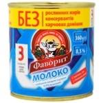 Молоко Фаворит згущене незбиране з цукром 8.5% 360г