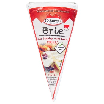 Coburger Brie Soft Cheese with mold 60% 200g - buy, prices for EKO Market - photo 1