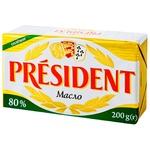 Масло President кисловершкове солоне 80% 200г