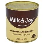 Молоко згущене Milk&Joy незбиране з цукром 8,5% 380г