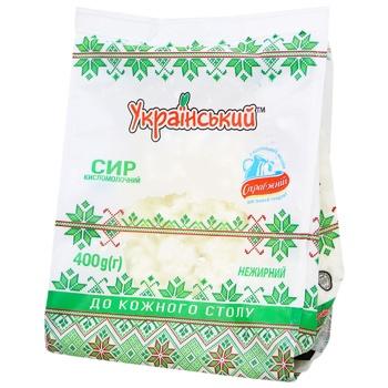 Творог Украинский нежирный 400г - купить, цены на Novus - фото 1
