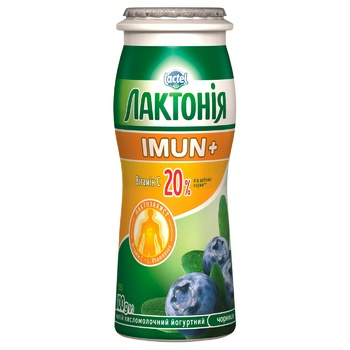 Lactonia Blackberry Flavored Fermented Milk Product Enriched with Vitamin C and Prebiotic Rhamnosus Imun+ 1,5% 100g - buy, prices for EKO Market - photo 1