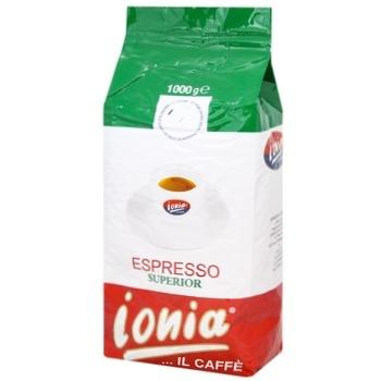 Кофе Ionia Espresso Superior в зернах 1кг - купить, цены на УльтраМаркет - фото 1