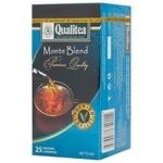 Black tea Qualitea Monte Blend Ceylon tea 25x1.8g teabags Ukraine
