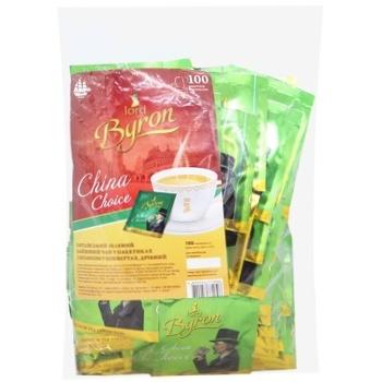 Чай зеленый Lord Byron 100пак*2г - купить, цены на МегаМаркет - фото 1