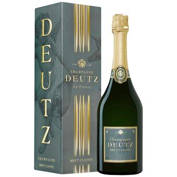 Deutz Brut Classic white dry champagne 12% 0,75l
