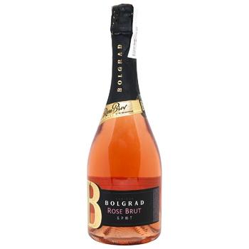 Вино игристое Bolgrad Brut розовое брют 10-13,5% 0,75л