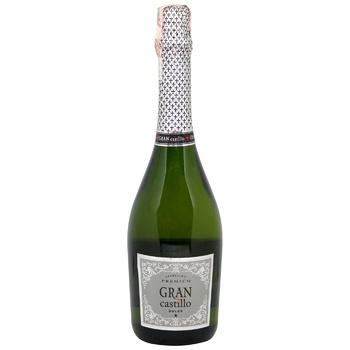 Вино ігристе Gran Castillo Viura Moscato Dolce біле солодке 10,5% 0,75л