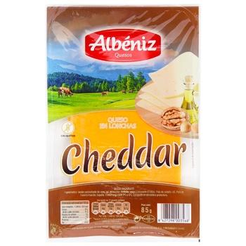 Сыр Albeniz Чеддер нарезной 45% 85г