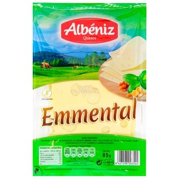 Albeniz Emmental Cheese Sliced 45% 85g