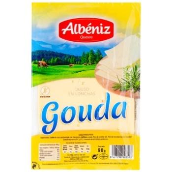 Сыр Albeniz Гауда нарезной 45% 90г