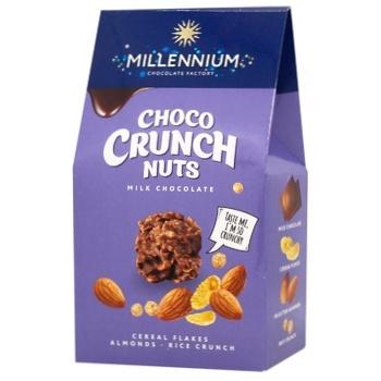 Цукерки Millennium Choco Crunch мигдаль 100г