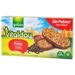 Печиво-сендвіч Gullon Vitalday злакове з фундуком та шоколадними чіпсами 220г