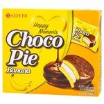 Lotte Choco Pie Banana in chocolate glaze cake  336g