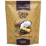 Чіпси кокосові Coco Deli солодкі з апельсином, корицею та кавою 30г