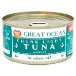 Тунец Tropic Life Graet Ocean целый в оливковом масле 185мл