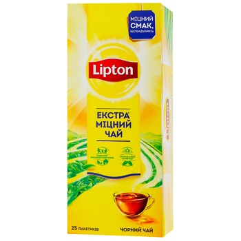 Lipton strong black tea 25pcs*2g - buy, prices for EKO Market - photo 1