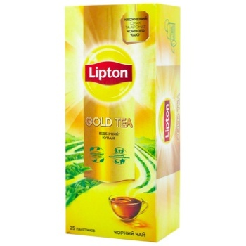 Чай Липтон Голд черний 25х2г