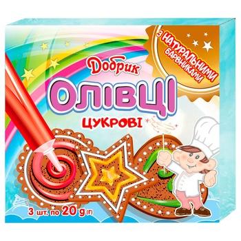 Набор пищевых красителей Добрик Мерцающий карандаш желеобразные