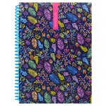 Optima Pattern Notebook A5 80 Sheet Plastic Cover Checkered