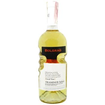 Вино Bolgrad GY Traminer Select белое полусладкое 11% 0,75л