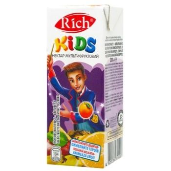 Rich Kids Nectar Multifruit Unclarified Blended 0,2l - buy, prices for CityMarket - photo 1