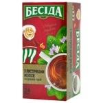 Чай Беседа черный с листочками мелиссы 24пак
