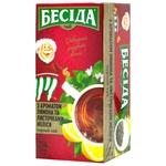 Чай чорний Бесіда аромат лимону та листочки меліси 24х1,5г