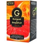 Чай черный G'tea! Gourmet кумкват и грейпфрут 20шт 1.75г