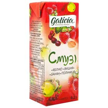 Сок Galicia Смузи яблоко-вишня-банан-клубника 0,2л - купить, цены на ЕКО Маркет - фото 1