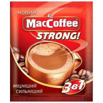 Напиток кофейный MacCoffee Strong растворимый 16г - купить, цены на СитиМаркет - фото 1