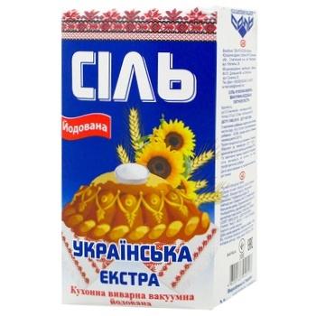 Сіль екстра Слов'янська кухонна йодована 1кг - купити, ціни на CітіМаркет - фото 1