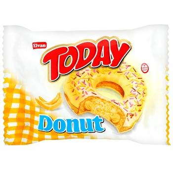 Пончик Today глазированный с банановым кремом 50г - купить, цены на МегаМаркет - фото 1