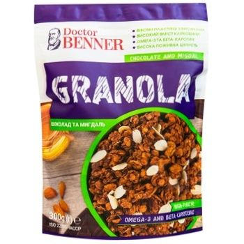 Doctor Benner Chocolate and Almonds Granola 300g