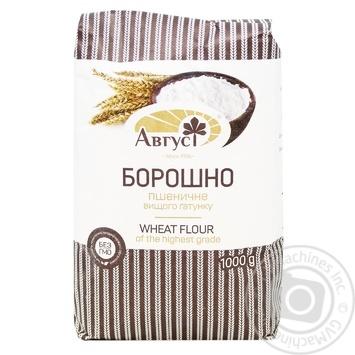 Борошно Август пшеничне  вищий гатунок 1кг - купити, ціни на МегаМаркет - фото 1