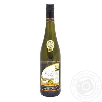 Вино Moselland Riesling Auslese біле сухе 11,5% 0,75л