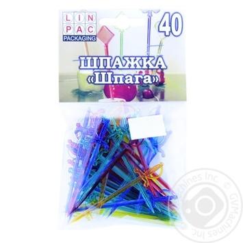 Шпажка одноразовая Linpac Шпага 40шт./паков - купить, цены на Novus - фото 2