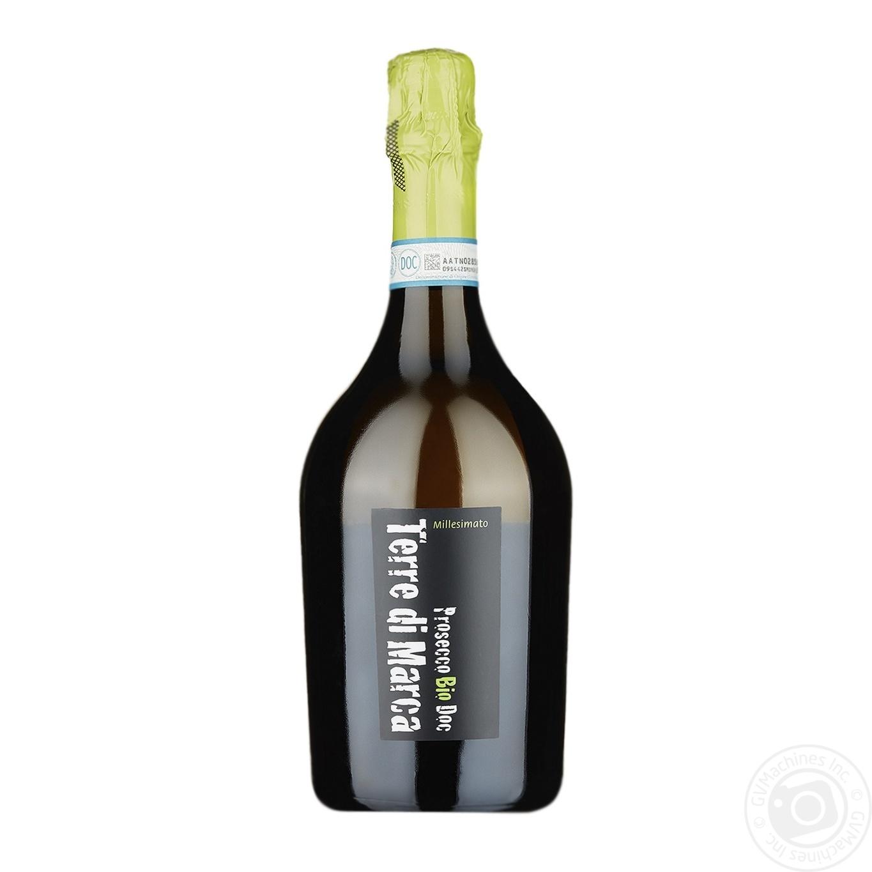 Купить 499676, Вино игристое Terre di Marca Prosecco Bio Doc белое сухое 11, 5% 0, 75л