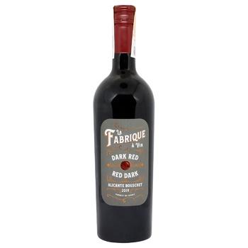 Вино LGI Wines La Fabrique Alicante красное сухое 14% 0,75л - купить, цены на УльтраМаркет - фото 1