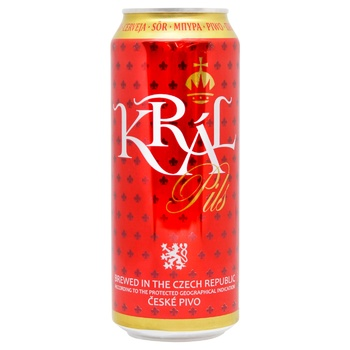 Kral Pils light beer can 4.1% 0,5l - buy, prices for CityMarket - photo 1
