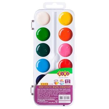 ZiBi Watercolor Paints 12 Colors - buy, prices for CityMarket - photo 1