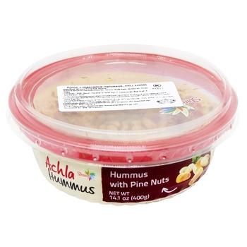Хумус Achla з кедровими горіхом 400г - купити, ціни на Ашан - фото 1