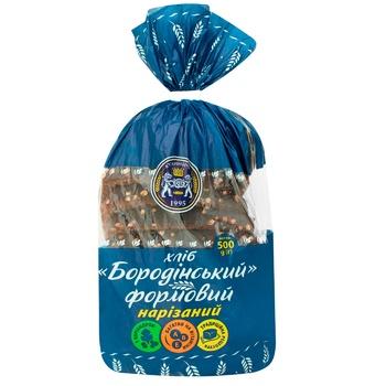 Хлеб Кулиничи Бородинское формовой нарезанный 500г