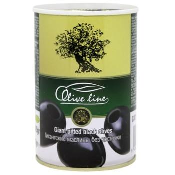 Olive Line Pitted Big Black Olives 420g - buy, prices for UltraMarket - photo 1